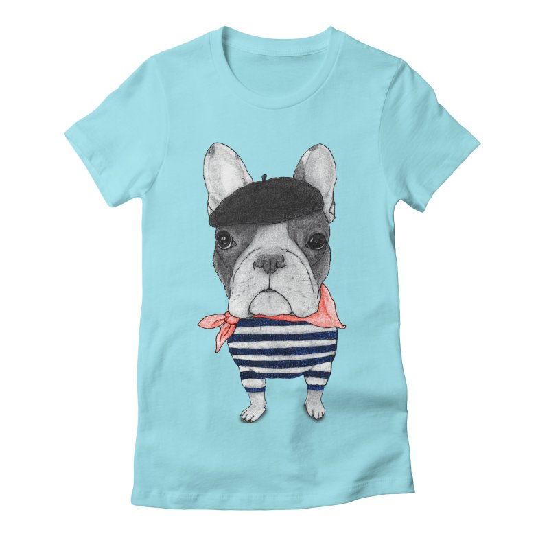 French Bulldog Women's Fitted T-Shirt by Barruf