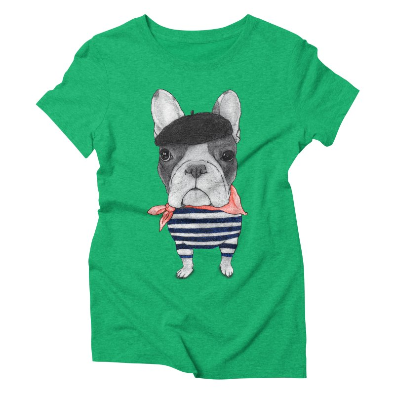 French Bulldog Women's Triblend T-Shirt by Barruf