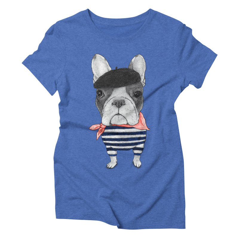 French Bulldog Women's Triblend T-Shirt by Barruf