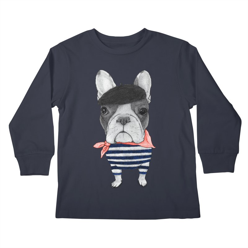 French Bulldog Kids Longsleeve T-Shirt by Barruf
