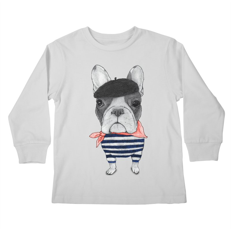 French Bulldog Kids Longsleeve T-Shirt by Barruf