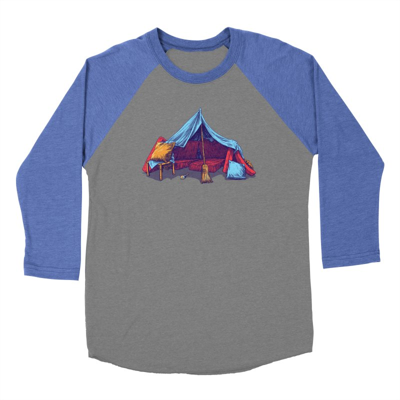 Blanket Fort Men's Baseball Triblend Longsleeve T-Shirt by Barry Blankenship Shirts