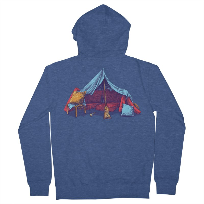 Blanket Fort Men's Zip-Up Hoody by Barry Blankenship Shirts