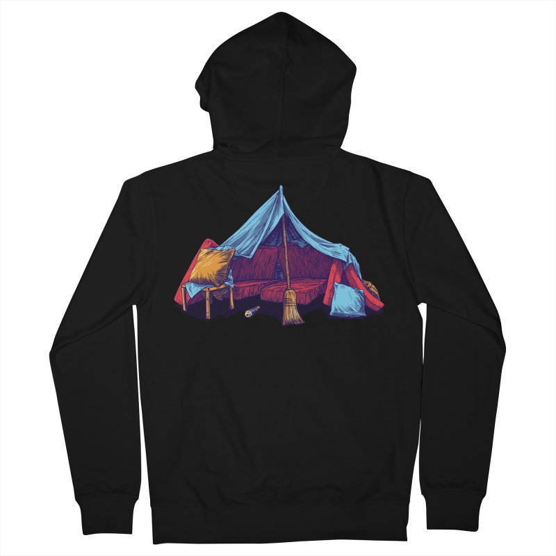 Blanket Fort Men's French Terry Zip-Up Hoody by Barry Blankenship Shirts