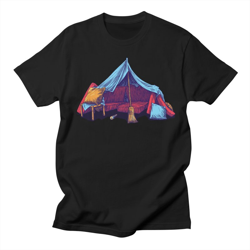 Blanket Fort in Men's Regular T-Shirt Black by Barry Blankenship Shirts
