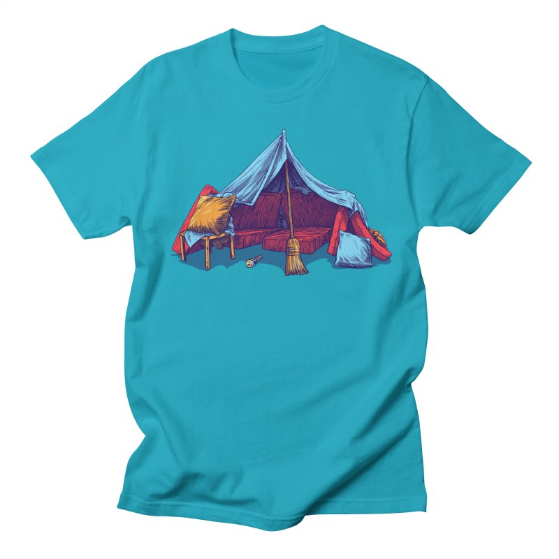 Blanket Fort Men's Regular T-Shirt by Barry Blankenship Shirts