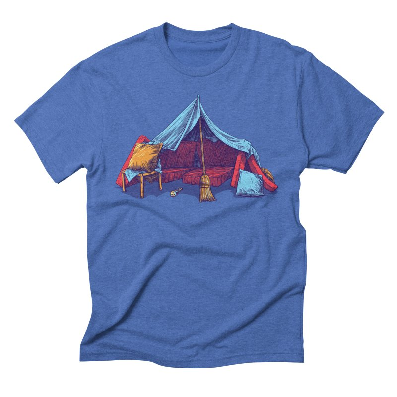Blanket Fort Men's Triblend T-Shirt by Barry Blankenship Shirts