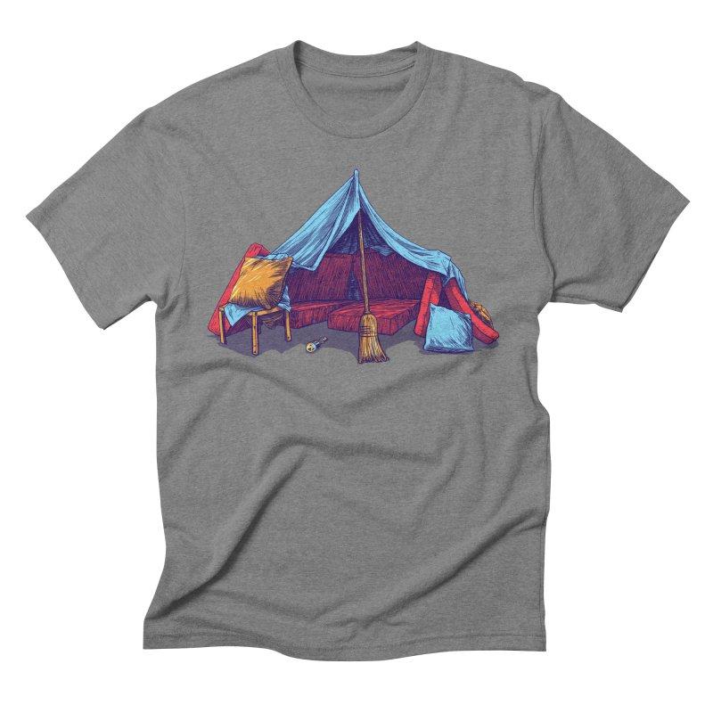 Blanket Fort Men's Triblend T-Shirt by Barry Blankenship Shirts