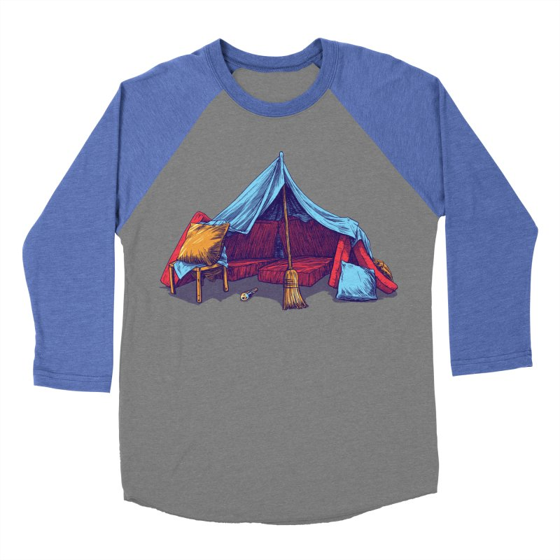 Blanket Fort Men's Baseball Triblend Longsleeve T-Shirt by Barry Blankenship Shirts