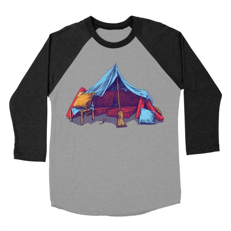 Blanket Fort Men's Baseball Triblend T-Shirt by Barry Blankenship Shirts