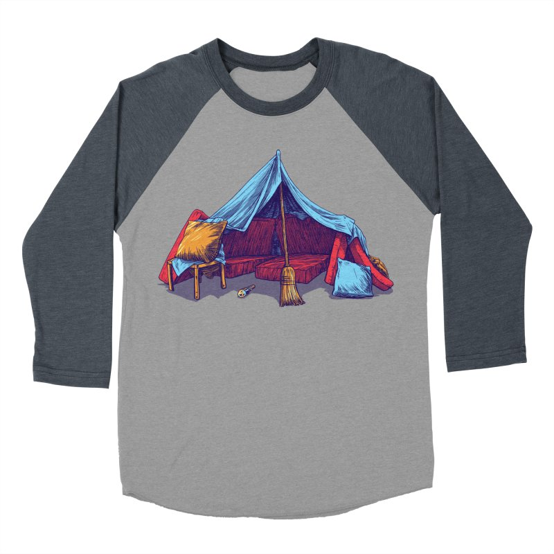 Blanket Fort Men's Baseball Triblend T-Shirt by Barry Blankenship Shirts