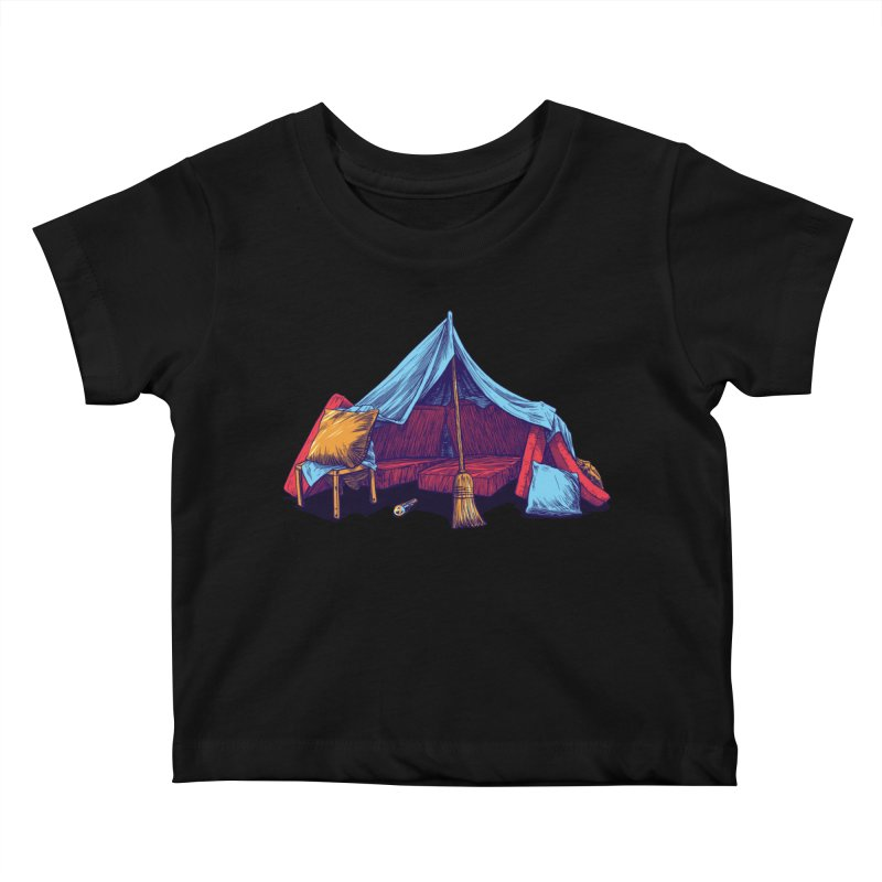 Blanket Fort Kids Baby T-Shirt by Barry Blankenship Shirts