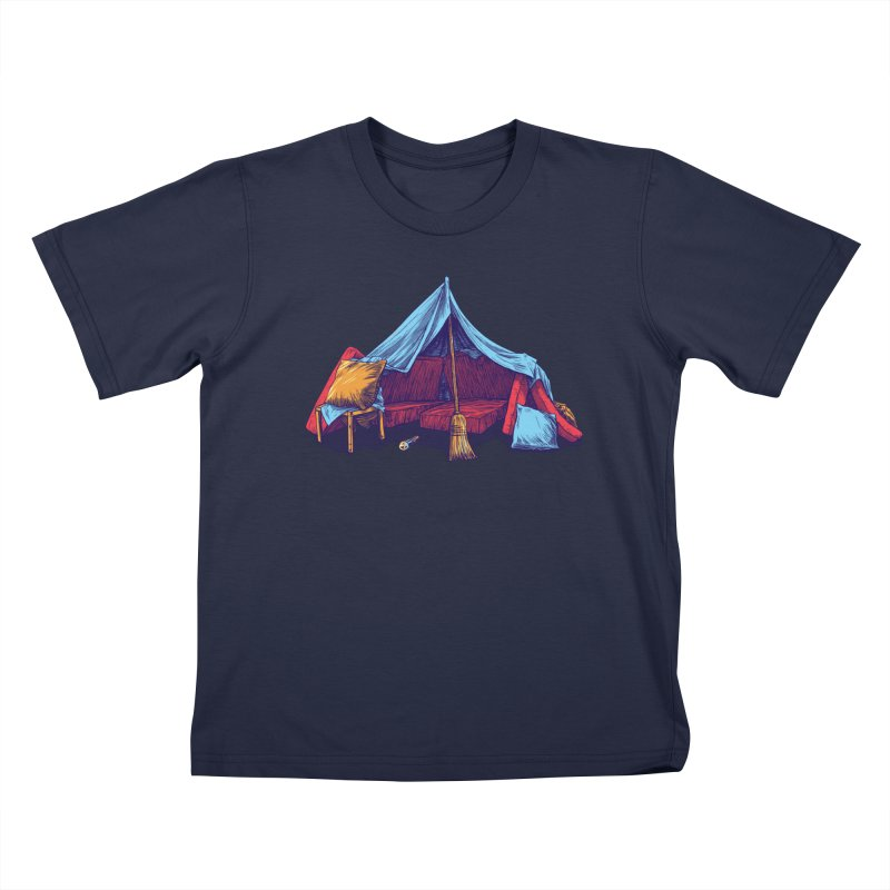 Blanket Fort Kids T-Shirt by Barry Blankenship Shirts