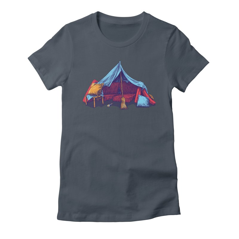 Blanket Fort Women's Fitted T-Shirt by Barry Blankenship Shirts