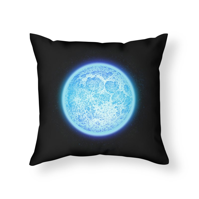 Moon Home Throw Pillow by Barry Blankenship Shirts