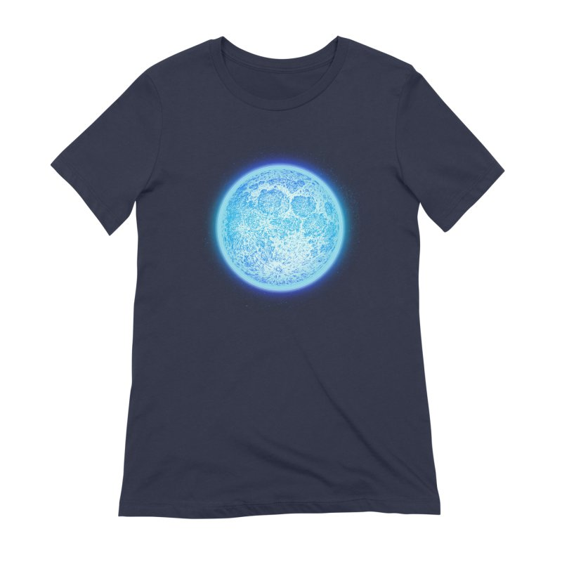 Moon Women's Extra Soft T-Shirt by Barry Blankenship Shirts