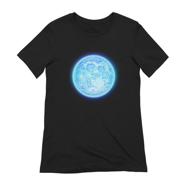 Moon Women's Extra Soft T-Shirt by Barry Blankenship Shirts