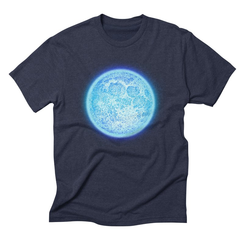 Moon Men's Triblend T-Shirt by Barry Blankenship Shirts