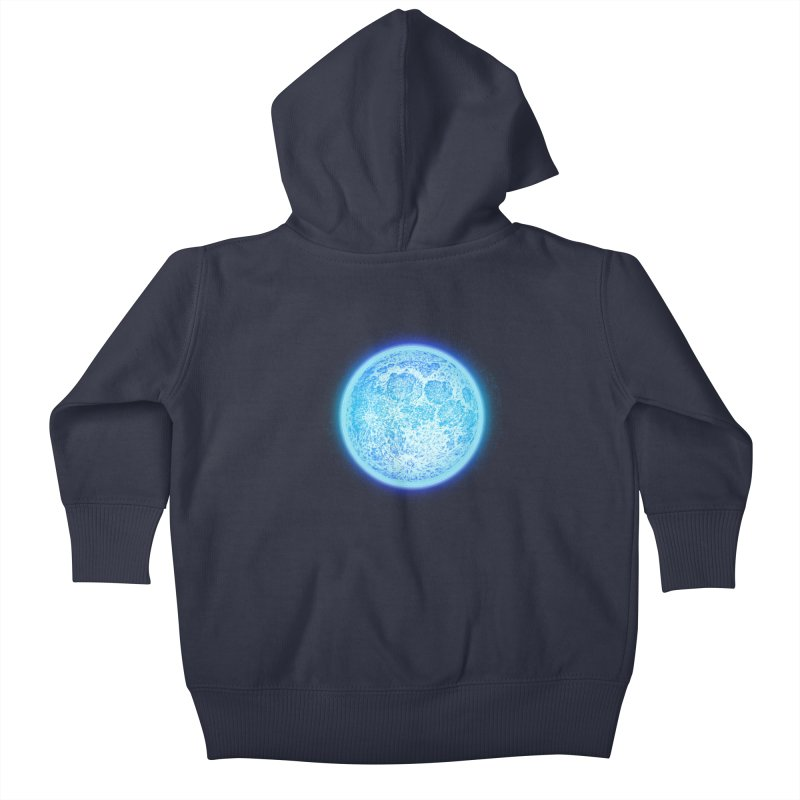 Moon Kids Baby Zip-Up Hoody by Barry Blankenship Shirts