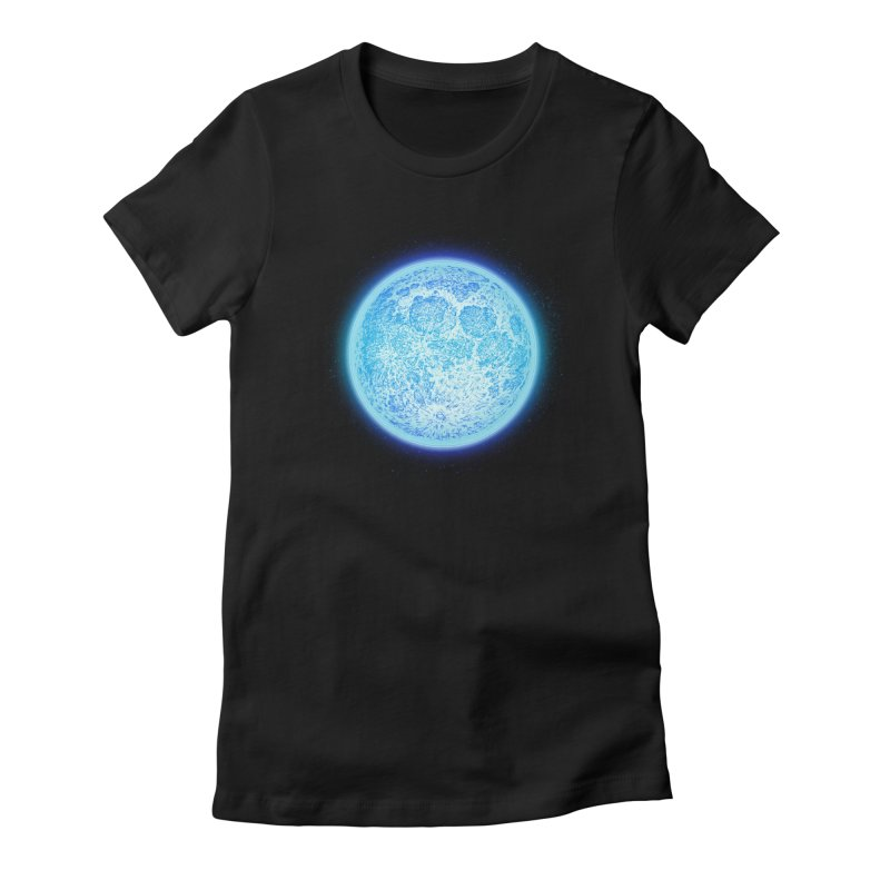 Moon Women's Fitted T-Shirt by Barry Blankenship Shirts
