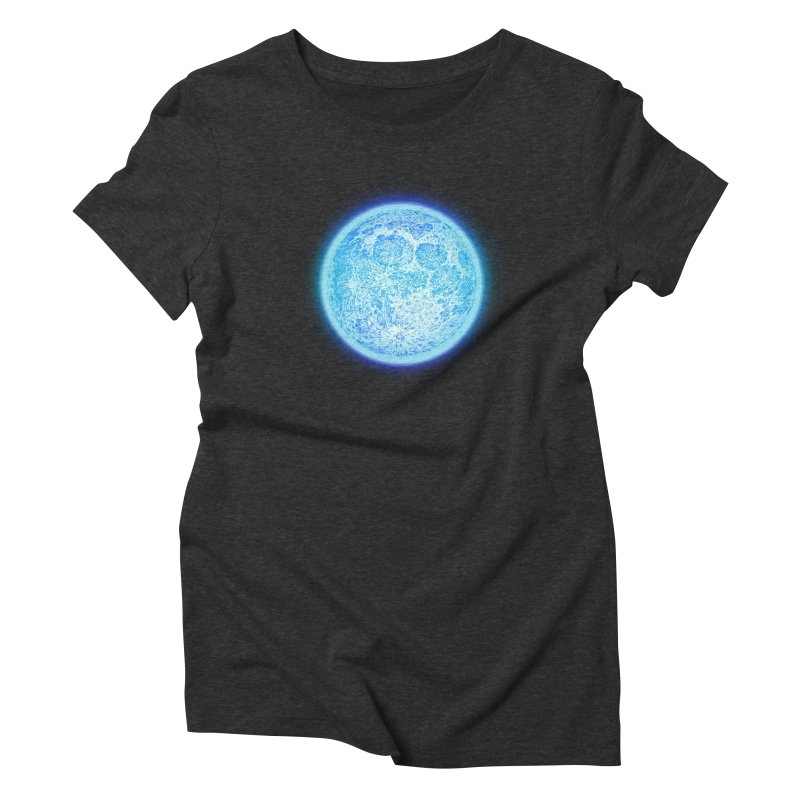Moon Women's Triblend T-Shirt by Barry Blankenship Shirts