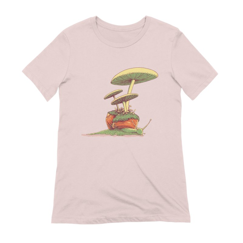Shrooms & Snails Women's Extra Soft T-Shirt by Barry Blankenship Shirts