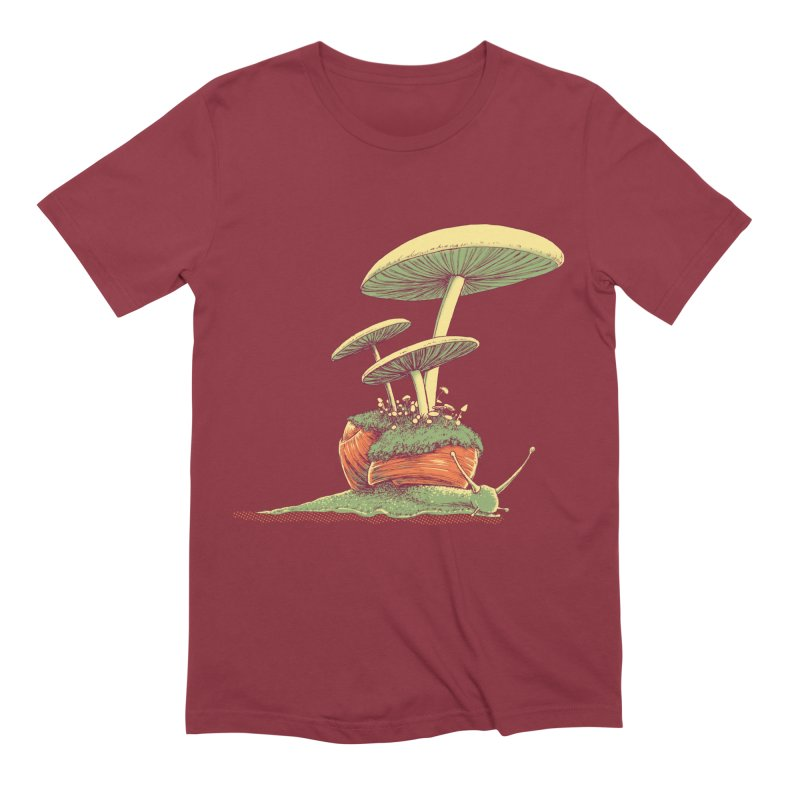 Shrooms & Snails Men's Extra Soft T-Shirt by Barry Blankenship Shirts