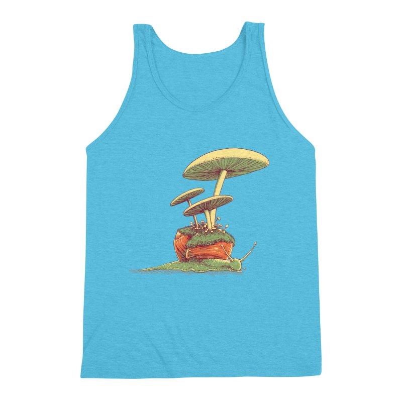 Shrooms & Snails Men's Triblend Tank by Barry Blankenship Shirts