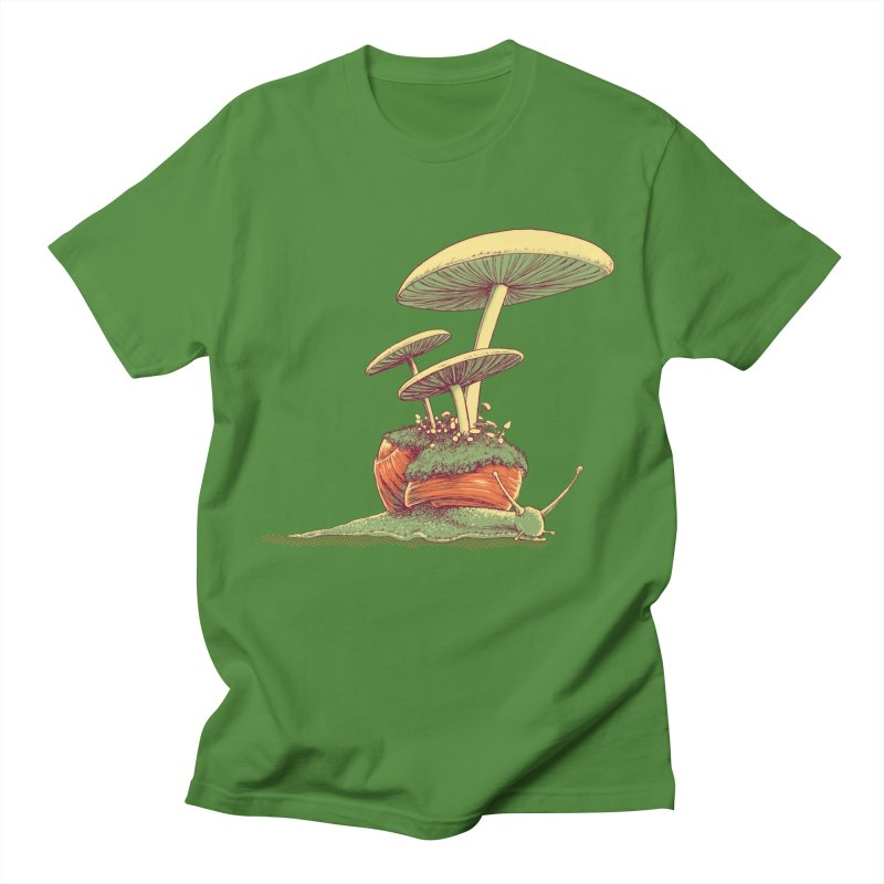 Shrooms & Snails Men's Regular T-Shirt by Barry Blankenship Shirts