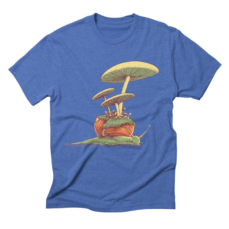 Shrooms & Snails Men's T-Shirt by Barry Blankenship Shirts