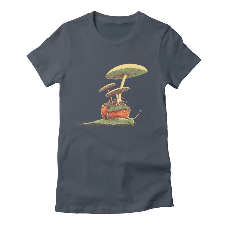 Shrooms & Snails Women's T-Shirt by Barry Blankenship Shirts