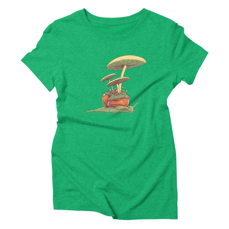 Shrooms & Snails Women's Triblend T-Shirt by Barry Blankenship Shirts