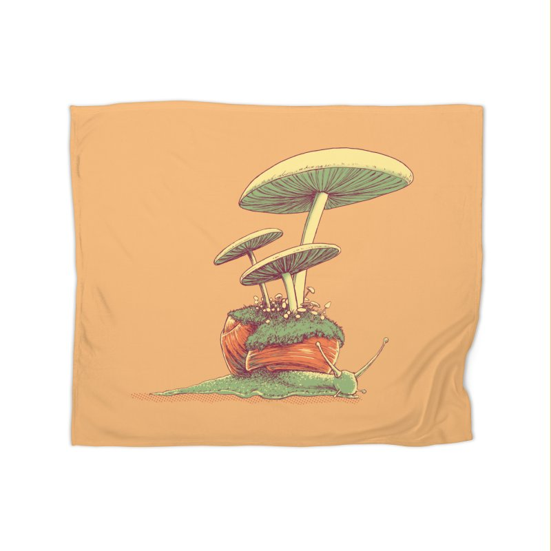 Shrooms & Snails Home Blanket by Barry Blankenship Shirts
