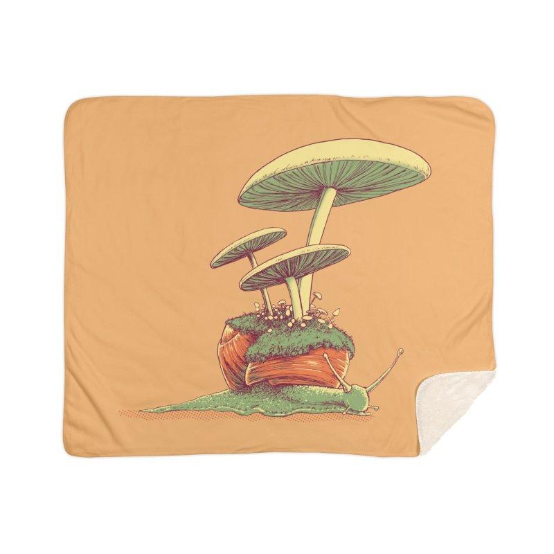 Shrooms & Snails Home Sherpa Blanket Blanket by Barry Blankenship Shirts
