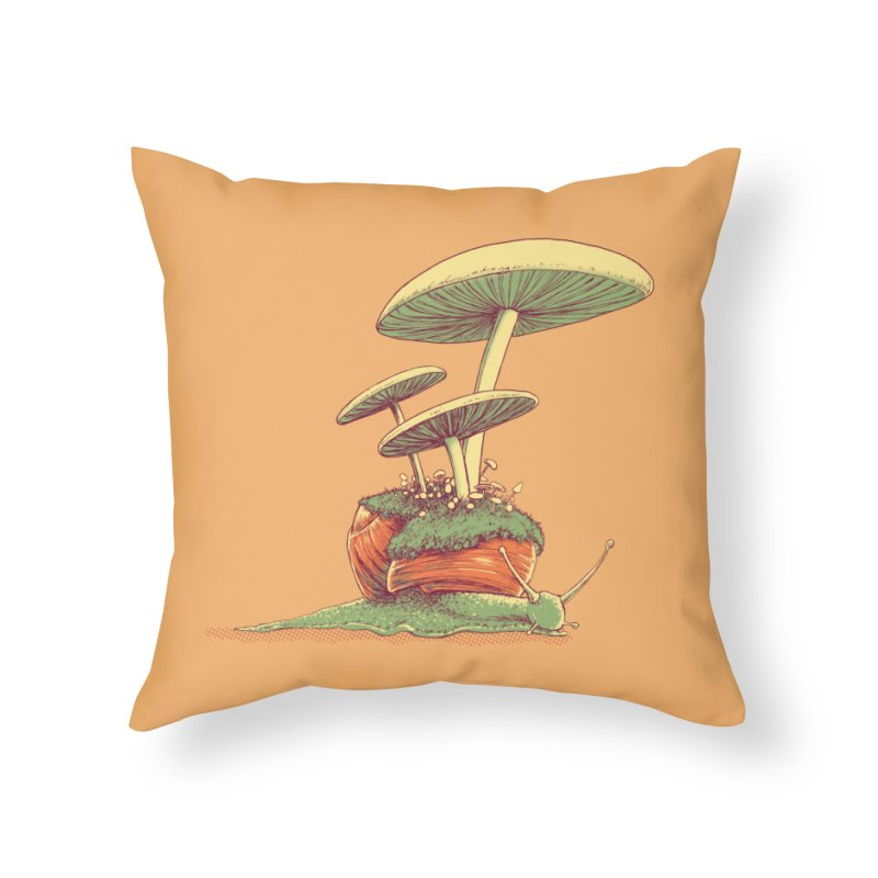 Shrooms & Snails Home Throw Pillow by Barry Blankenship Shirts