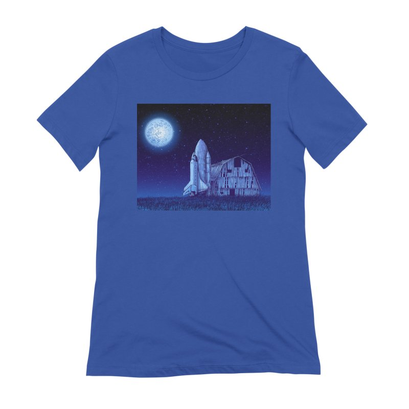 Space Barn Women's Extra Soft T-Shirt by Barry Blankenship Shirts