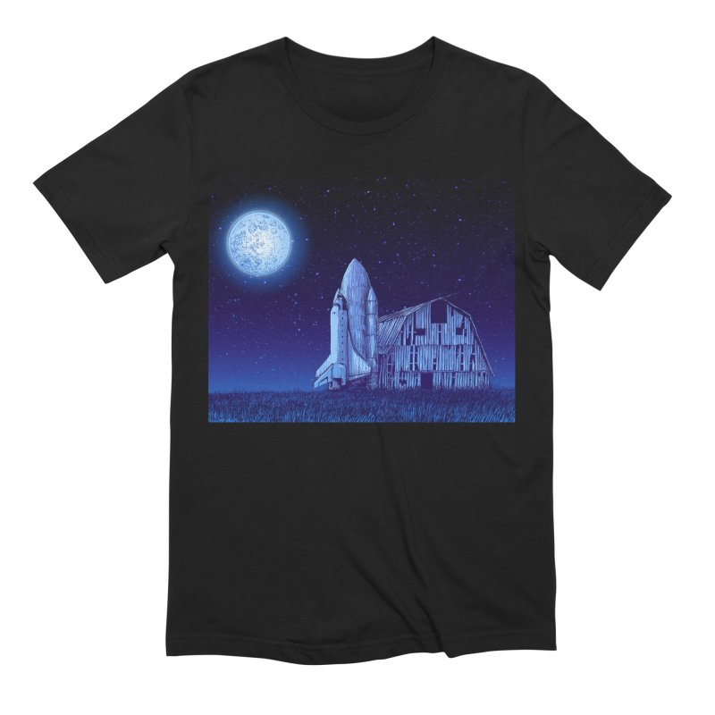Space Barn Men's Extra Soft T-Shirt by Barry Blankenship Shirts