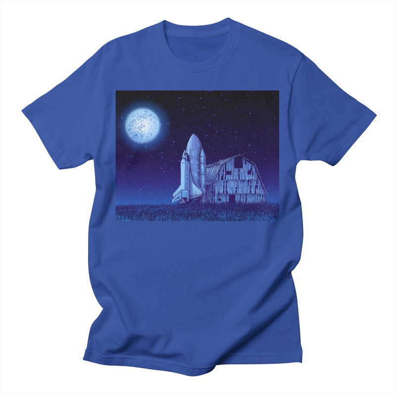 Space Barn Men's T-Shirt by Barry Blankenship Shirts