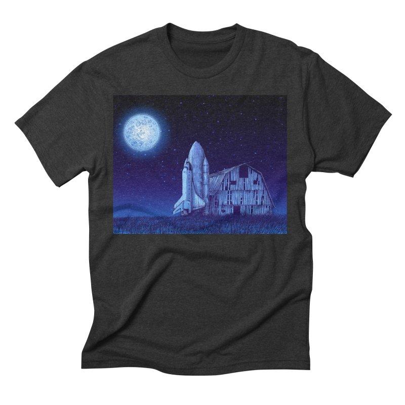 Space Barn Men's Triblend T-Shirt by Barry Blankenship Shirts