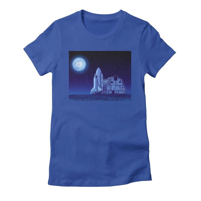Space Barn Women's T-Shirt by Barry Blankenship Shirts