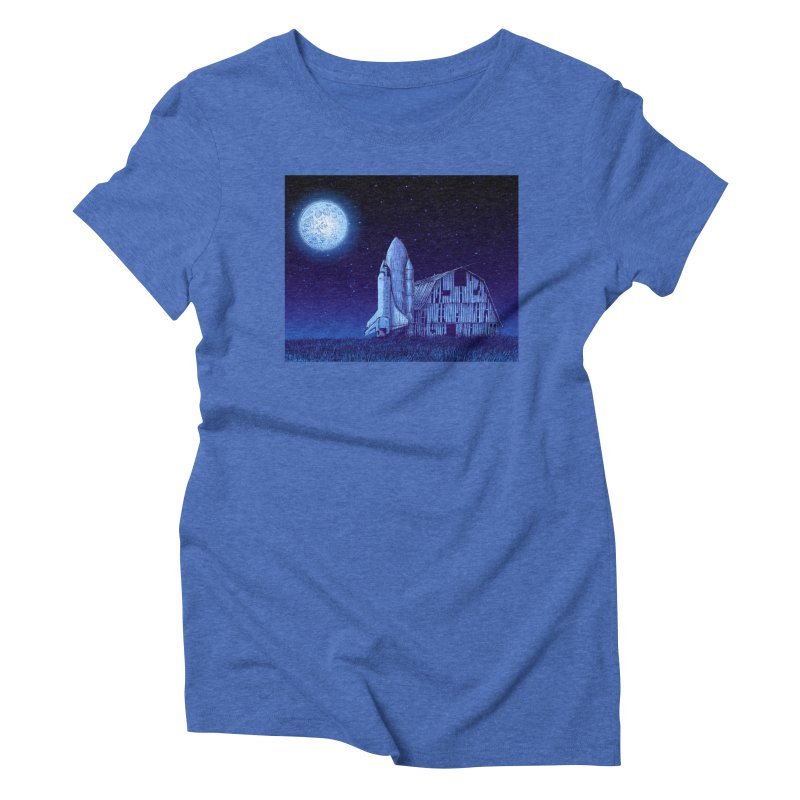 Space Barn Women's Triblend T-Shirt by Barry Blankenship Shirts