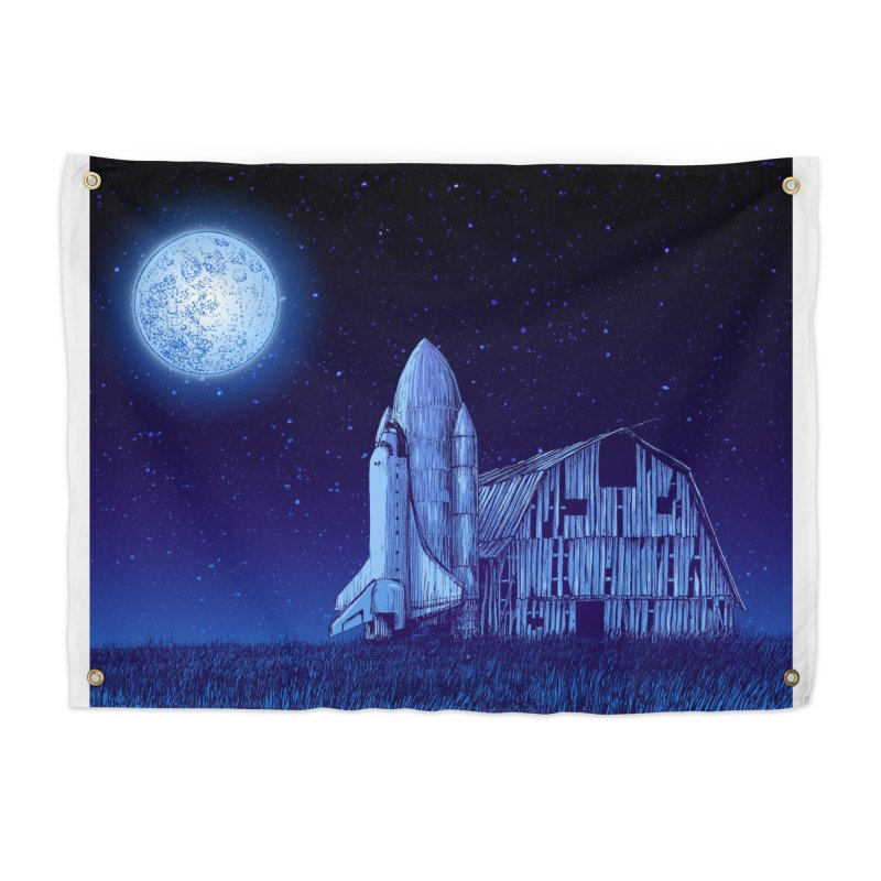 Space Barn Home Tapestry by Barry Blankenship Shirts
