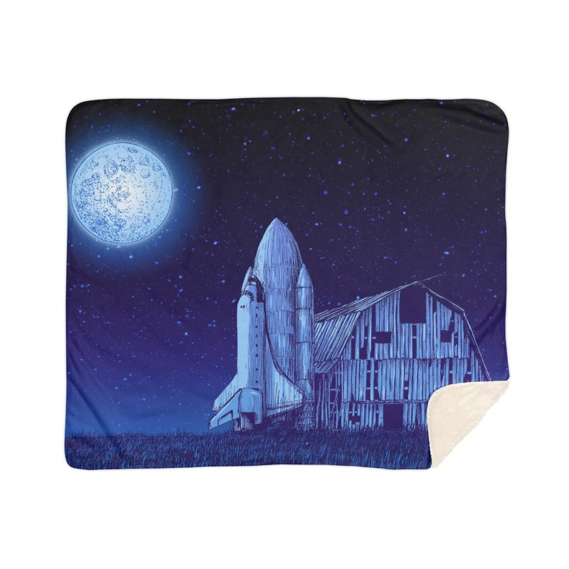 Space Barn Home Sherpa Blanket Blanket by Barry Blankenship Shirts