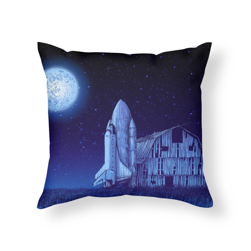 Space Barn Home Throw Pillow by Barry Blankenship Shirts