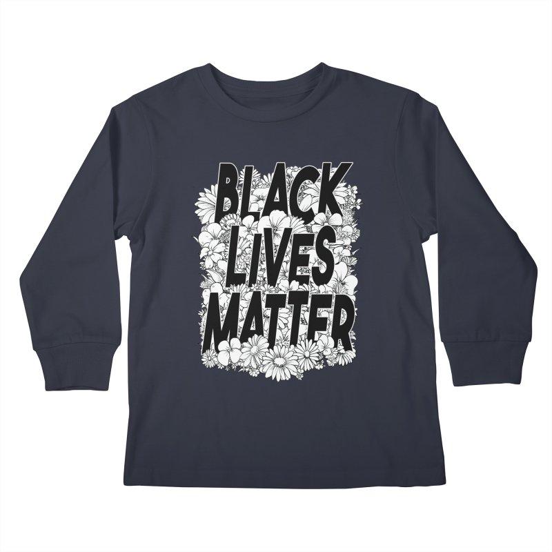Black Lives Matter Kids Longsleeve T-Shirt by Barry Blankenship Shirts