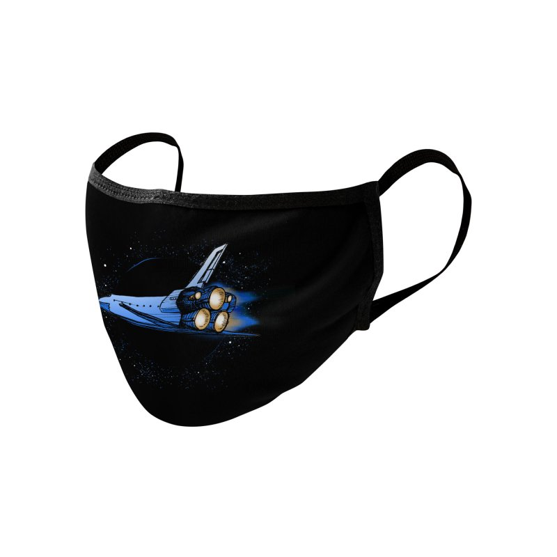 Space Shuttle Accessories Face Mask by Barry Blankenship Shirts
