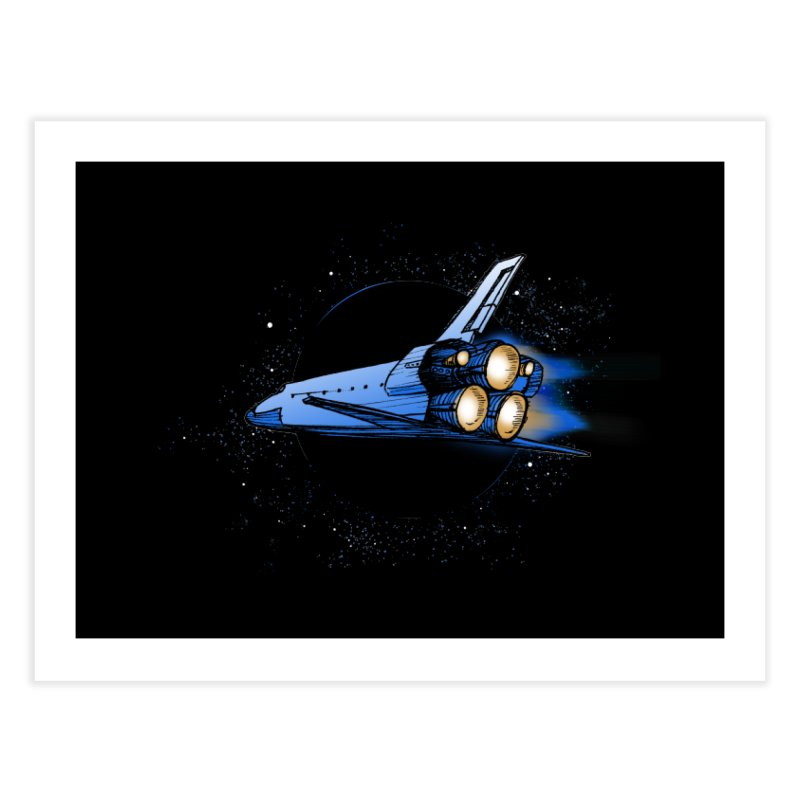 Space Shuttle Home Fine Art Print by Barry Blankenship Shirts