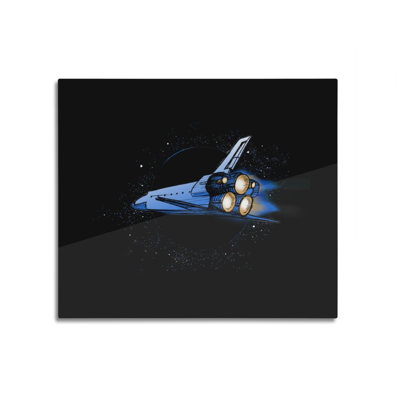Space Shuttle Home Mounted Aluminum Print by Barry Blankenship Shirts