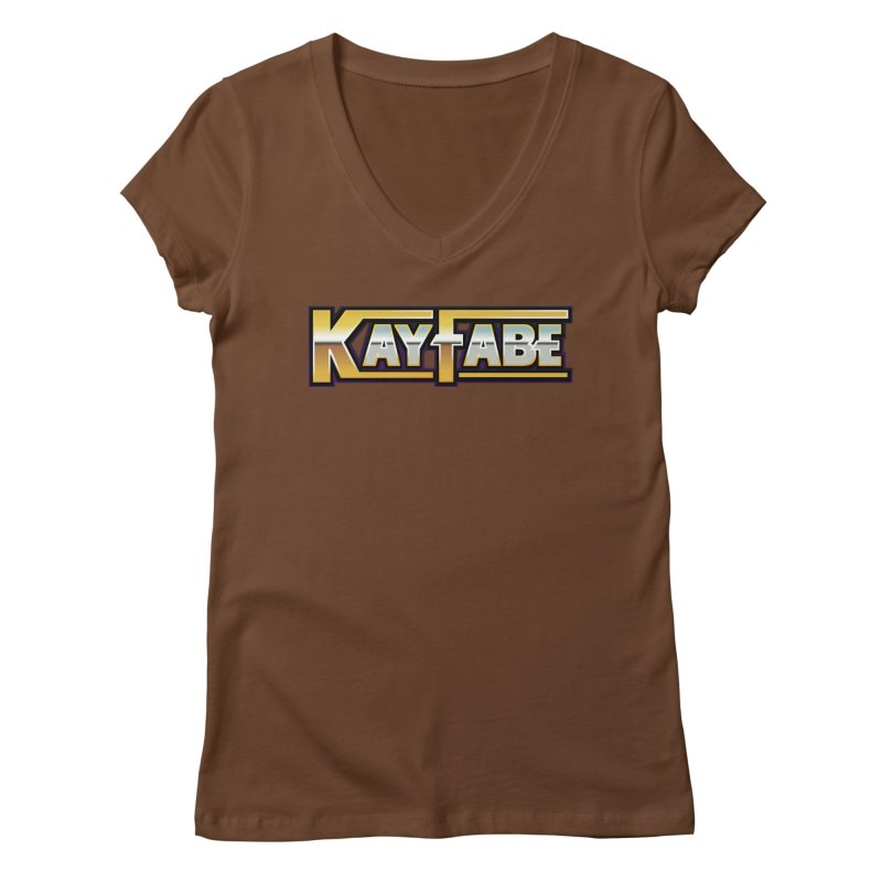 Kayfabe Women's Regular V-Neck by Barry Blankenship Shirts