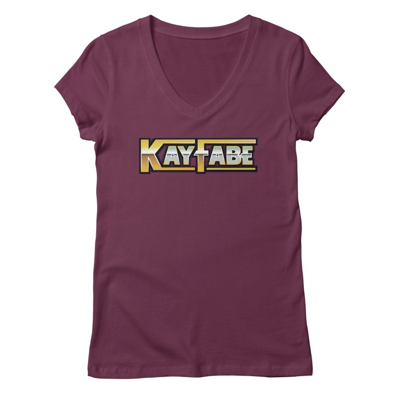 Kayfabe Women's Regular V-Neck by Barry Blankenship Shirts